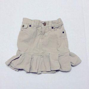 RALPH LAUREN Corduroy Peplum Skirt Cream
